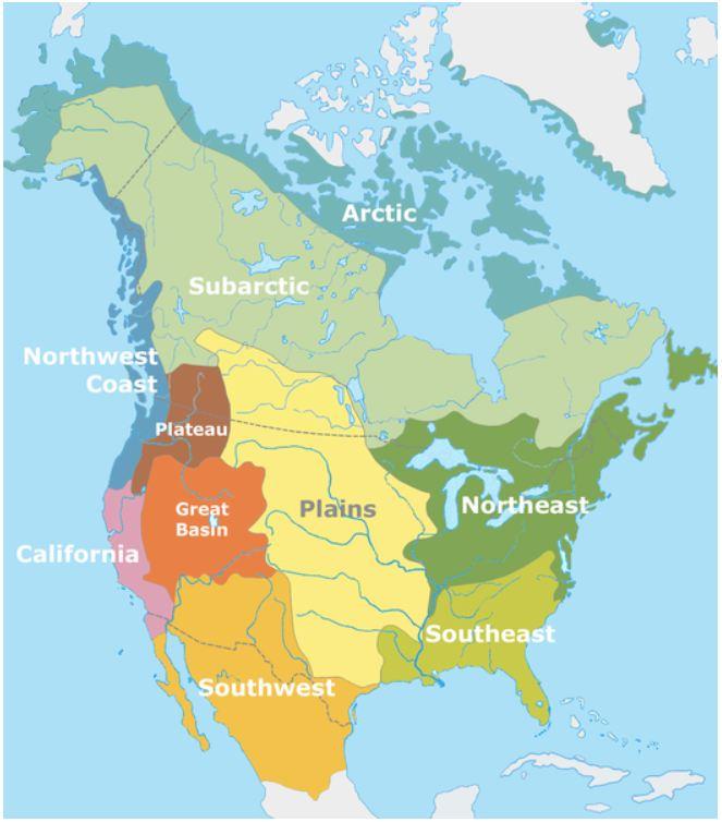 Cutuurgebieden Noord Amerika