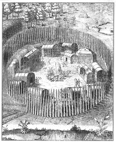 Algonquian Village Eastcoast 16th century