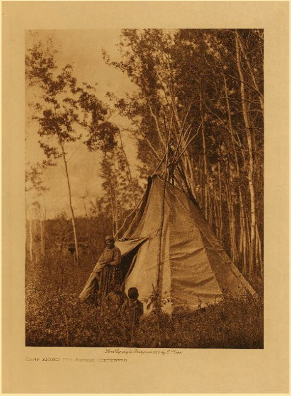 Curtis Camp among the Aspen Chipewayan