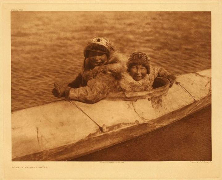 Inuit in Kayak