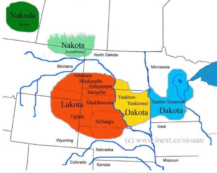 Sioux familie