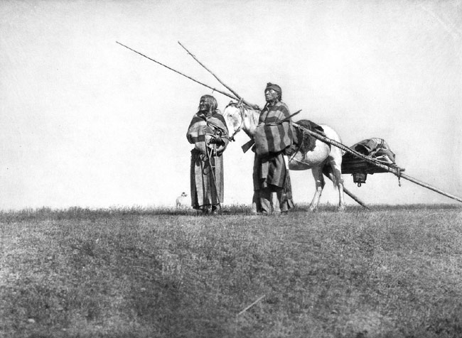 Blackfoot Travois, Vrutis, 1925
