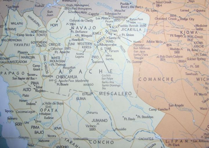 kaart Apaches