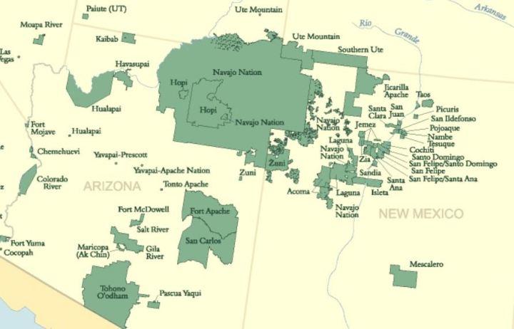 reservaten zuidwestelijk cultuurgebied