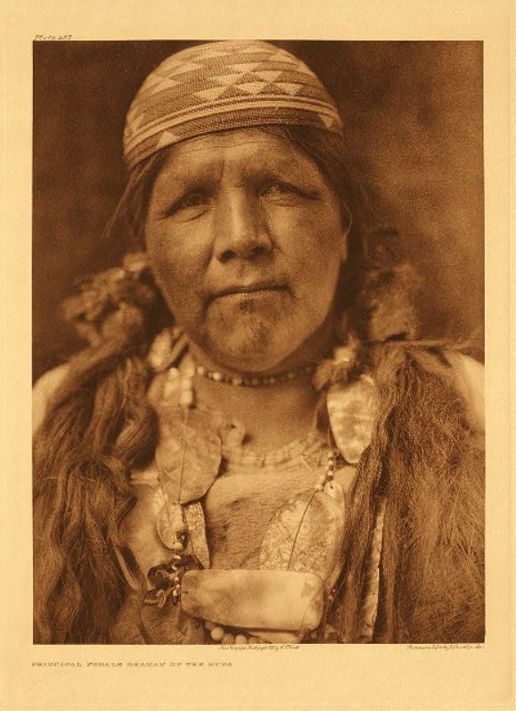 Curtis Principal female shaman of the Gupa 1923