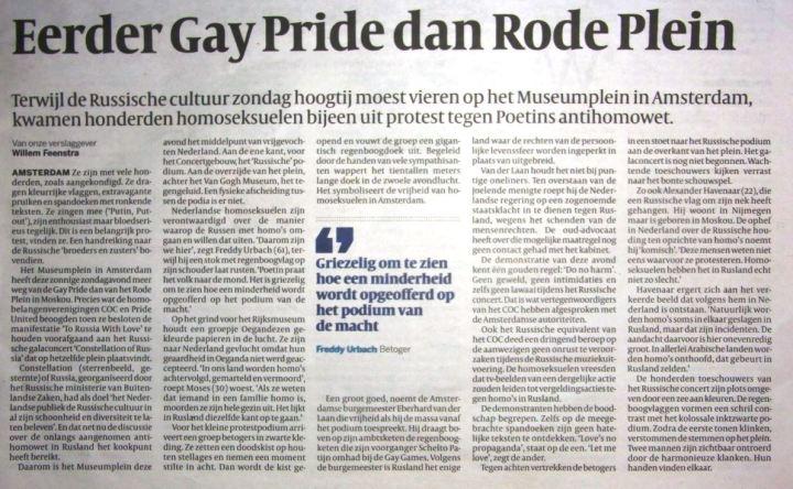 artikel Volkskrant demonstratie 25-8-2013 (tekst)